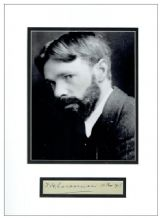 D H Lawrence Autograph Signed Display